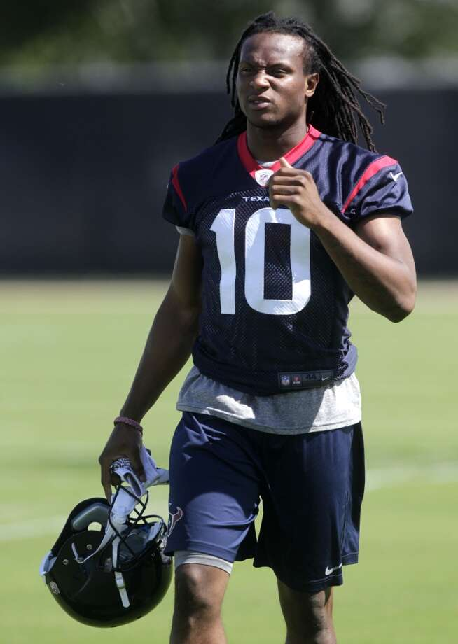 DeAndre Hopkins - Starting wide receiverAnalysis:Johnson is the best player in franchise history but hasn't practiced under O'Brien and isn't expected to report Friday, when training camp begins. Hopkins had a strong rookie season overall, but caught three or less receptions in six of his final seven games. Still, the position could be an unexpected strength for the Texans in 2014, if Fitzpatrick locks in, Johnson is his normal self and second-tier receivers such as Posey and Martin finally take a step forward. It could also be one of the team's many weak points. Posey and Martin will compete for the slot position, which should see increased use under O'Brien. Photo: J. Patric Schneider, For The Chronicle