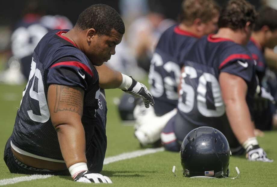 Brandon Brooks - Starting right guardAnalysis:Brooks started 15 of 16 games last season in just his second year in the league, cementing himself as the Texans' right guard of the future. With veteran Wade Smith departing, Brooks joins Brown and Myers as the foundation of the team's line, which must consistently open holes for Foster and keep Fitzpatrick, 31, off the turf. Photo: J. Patric Schneider, For The Chronicle
