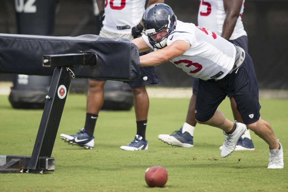 Jared Crick - Starting right defensive end  Analysis: Crick was good enough to play in all 16 games for the 2-14 Texans in 2013, but was only talented enough to start one. A strong offseason and the lack of a true answer at right end finds the Texans counting on a 2014 surge from the third-year pro, who has added muscle and understands this year is a make-or-break situation during his tenure in Houston. Photo: Brett Coomer, Houston Chronicle