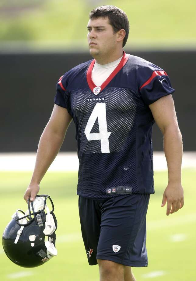 Randy Bullock - Starting place kicker  Analysis: The Texans' best training camp competition could be at the least glamorous position. Bullock's job was on the line by midseason last year, when he missed three of four kicks in the Texans' 27-24 home loss to Indianapolis on Nov. 3. He responded by converting his final 11 field-goal attempts. Former Rice kicker Chris Boswell was acquired to challenge Bullock. A strong camp by the ex-Owl could force O'Brien to make a critical decision before Week 1. Photo: Patric Schneider, Associated Press