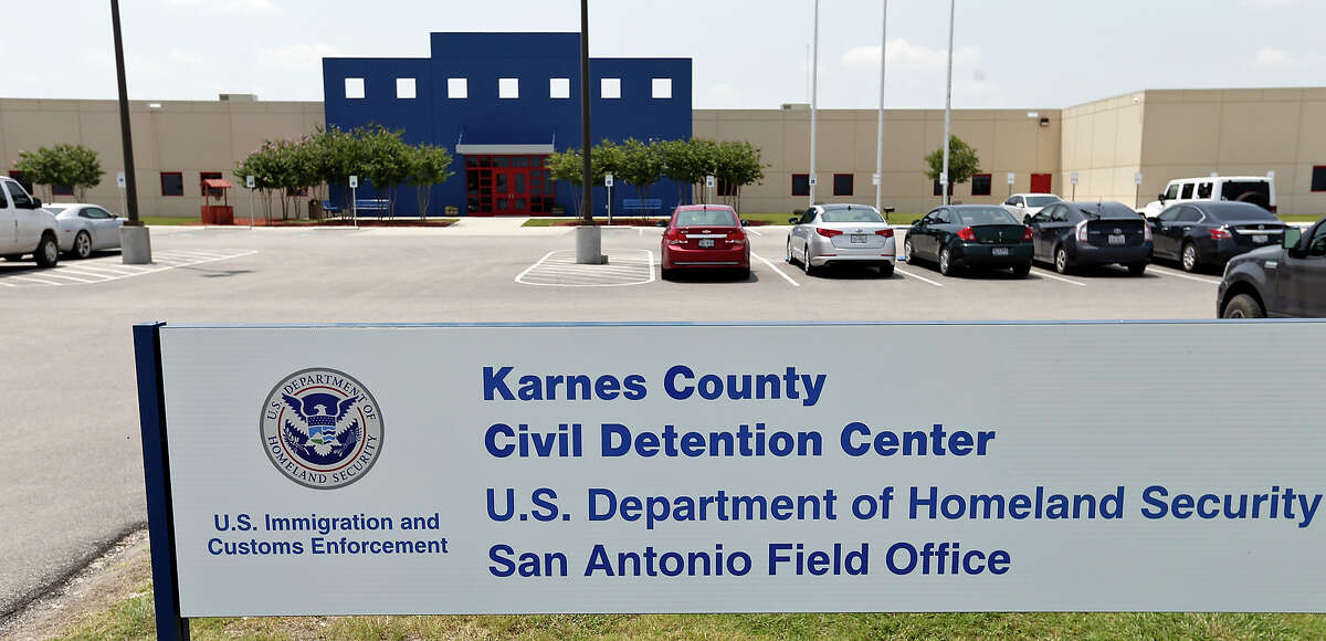 A view of the Karnes County Civil Detention Center, Sunday July 20, 2014 in Karnes City, Tx., where undocumented women and children from Central America are scheduled to be housed.