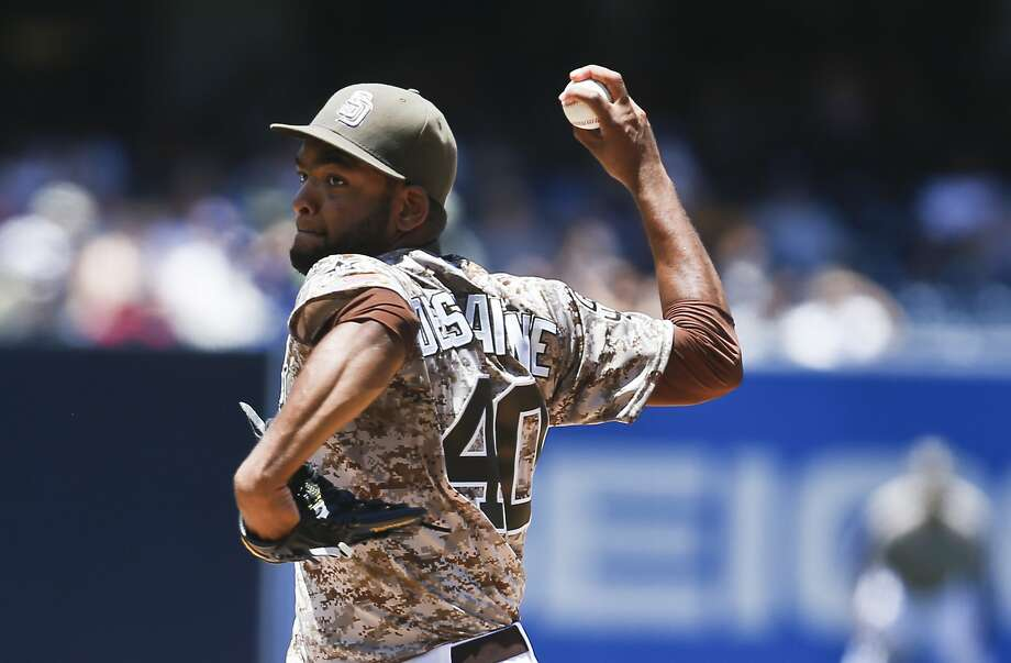 San Diego's Odrisamer Despaigne was four outs shy of pitching the first no-hitter in franchise history. Photo: Lenny Ignelzi, Associated Press