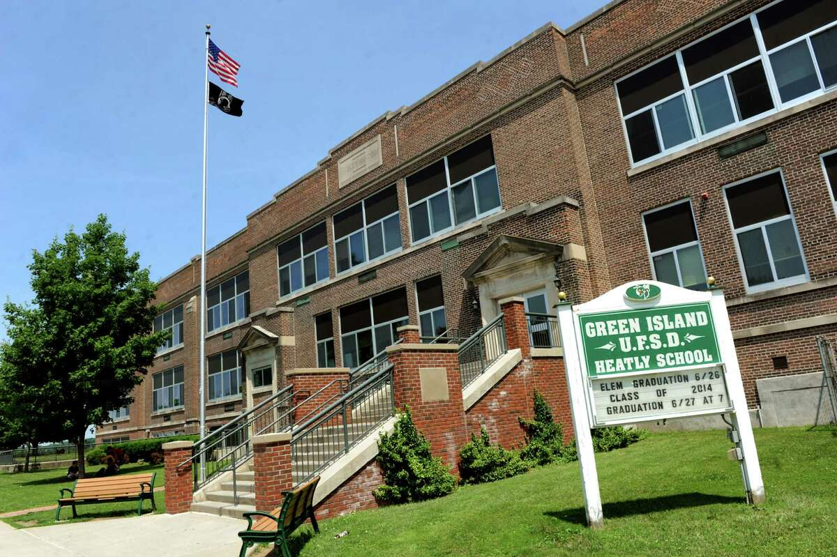 In March 2021, Green Island's Heatly School is bringing students in grades 10-12 back to school four days a week, after being mostly remote due to the pandemic. (Cindy Schultz / Times Union)