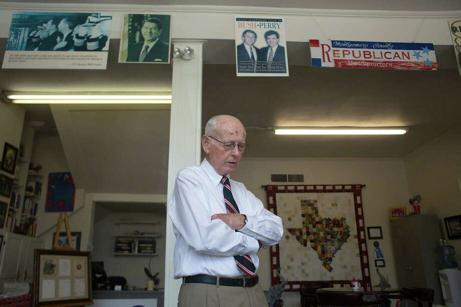 Wally Wilkerson has been Montgomery County GOP chairman since 1964, the year of the LBJ landslide. Photo: Johnny Hanson, Staff / © 2014  Houston Chronicle