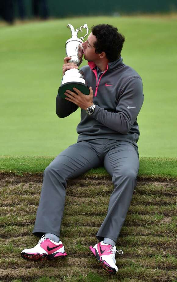Being from Northern Ireland, Rory McIlroy takes special pride in capturing the claret jug for the third major championship of his young career. Photo: PAUL ELLIS, Staff / AFP