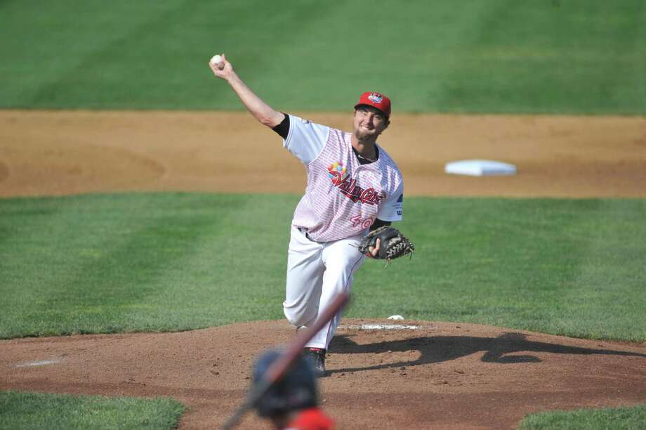 Austin Chrismon of the Tri-City ValleyCats, throws a pitch during their game against the State College Spikes at Joe Bruno Stadium on Sunday, July 20, 2014, in Troy, N.Y.     (Paul Buckowski / Times Union) Photo: Paul Buckowski / 00027801A