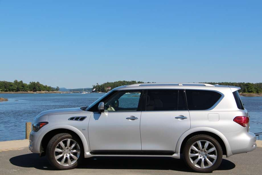 The 2014 Infiniti QX80 SUV, is one of the bigger luxury liners in the mega-SUV class. This all-wheel-drive version, with some $15,000 worth of optional packages, has a sticker price of $79,095. (All photos by Michael Taylor)