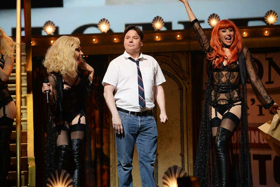 Mike Myers performs on the closing night of 'Monty Python Live (Mostly)' at The O2 Arena on July 20, 2014 in London, England. Photo: Dave J Hogan, Getty Images