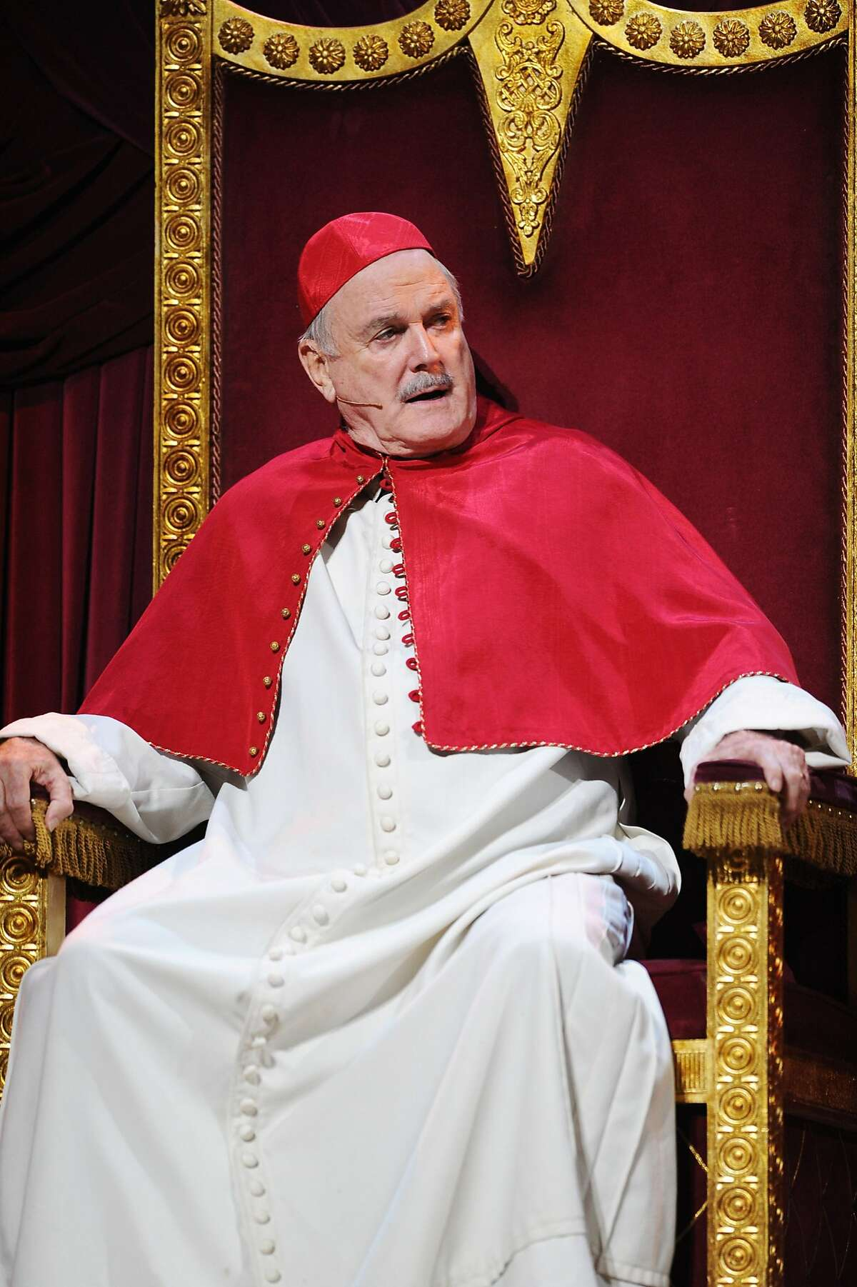 John Cleese performs on the closing night of 'Monty Python Live (Mostly)' at The O2 Arena on July 20, 2014 in London, England.
