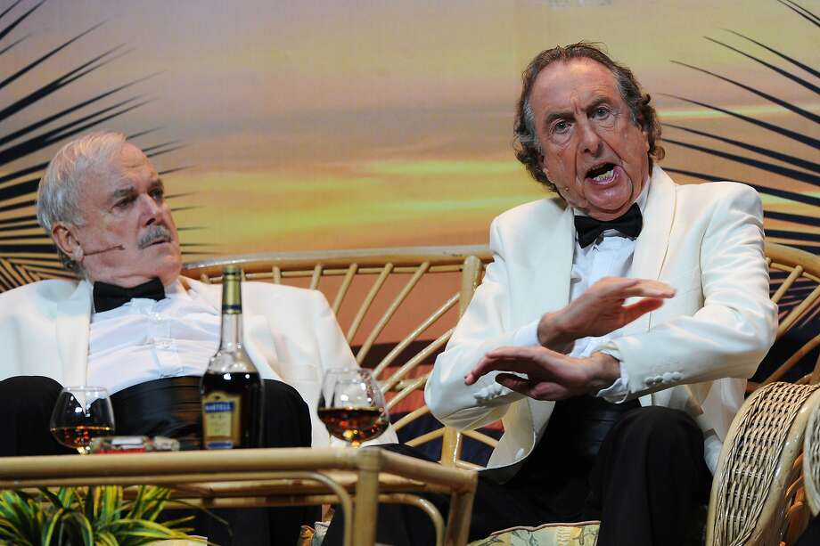 John Cleese and Eric Idle perform on the closing night of 'Monty Python Live (Mostly)' at The O2 Arena on July 20, 2014 in London, England.  Photo: Dave J Hogan, Getty Images