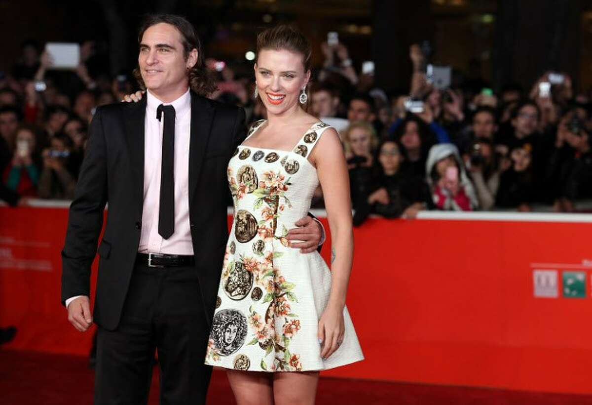 Joaquin Phoenix and Scarlett Johansson attend a screening of