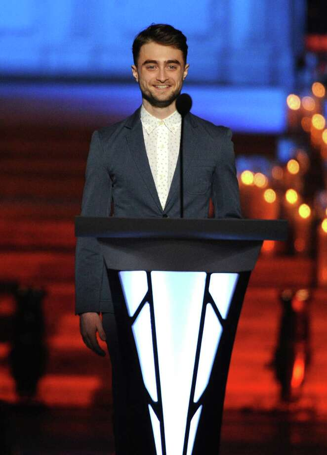 """Daniel RadcliffeThough he does not consider himself religious, he writes poetry under the pen name """"Jacob Gershon."""" Gershon is the maiden name of his Jewish mother, according to Virtual Jerusalem. Photo: Bryan Bedder, Getty Images For Logo TV / 2014 Getty Images"""