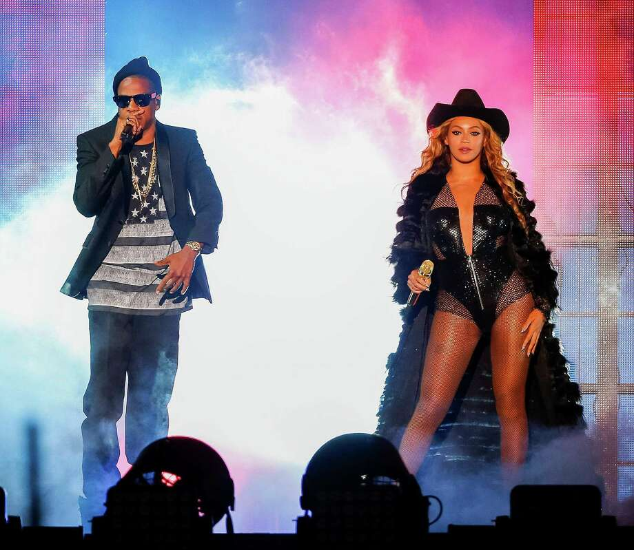 Beyonce and JAY Z perform on the On The Run Tour at the Minute Maid Park on Friday, July 18, 2014, in Houston, Texas. Photo: Aaron M. Sprecher/PictureGroup, Stringer / 2014 Parkwood Entertainment
