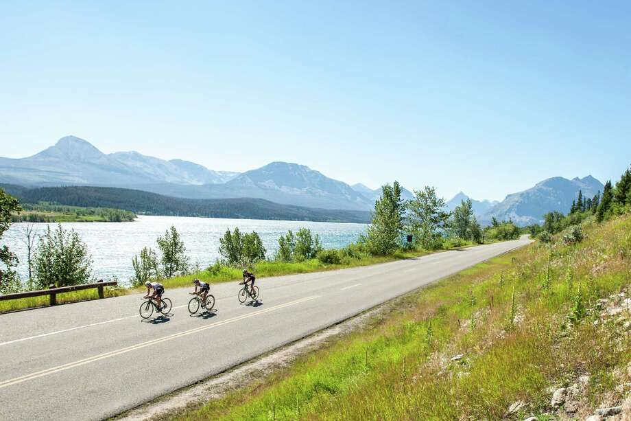 The Cycling House's Montana collection now includes the seven-day, six-night Glacier Loop tour, where riders pedal through along the epic Going to the Sun Road and outside Glacier National Park in the Many Glacier area. Photo: Tom Robertson, Photographer / 2010 Tom Robertson