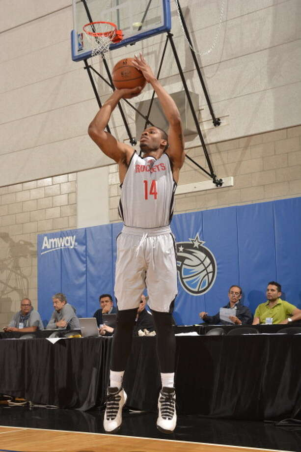 July 11: Rockets 101, Nets 75  Jermaine Marshall puts up a jumper. Photo: Fernando Medina, NBAE/Getty Images / 2014 NBAE