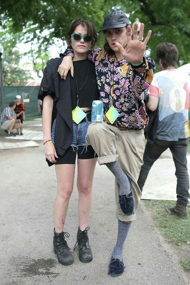 """The Pitchfork Music Festival took place over the weekend. Instead of telling you how it went we are going to let the pictures do the talking.""""Stop. Welcome to the Pitchfork Music Festival. My socks are to awesome to be blown off, so unless you have some like these get ready to get your socks knocked off."""" Photo: Roger Kisby, Getty / 2014 Roger Kisby"""