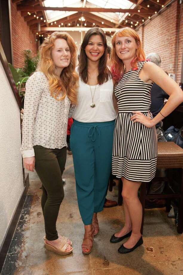 Jenna Kozel, Elisa Pandolfi and Laura Mastrangelo at the opening night party for Natoma Cabana on July 16, 2014. Photo: Drew Altizer, Drew Altizer Photography