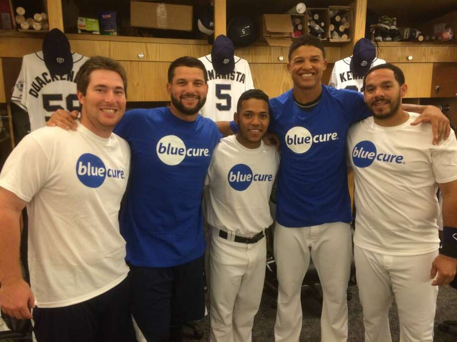 MLB San Diego Padres players Jedd Gyorko, Yonder Alonso, Alexi Amarista, Will Venable, Rene Rivera