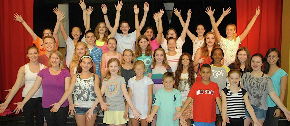 """Summer Theatre of New Canaan's Junior Company and staff prepare for the free performance of """"Hairspray Jr."""" on Friday, July 25."""