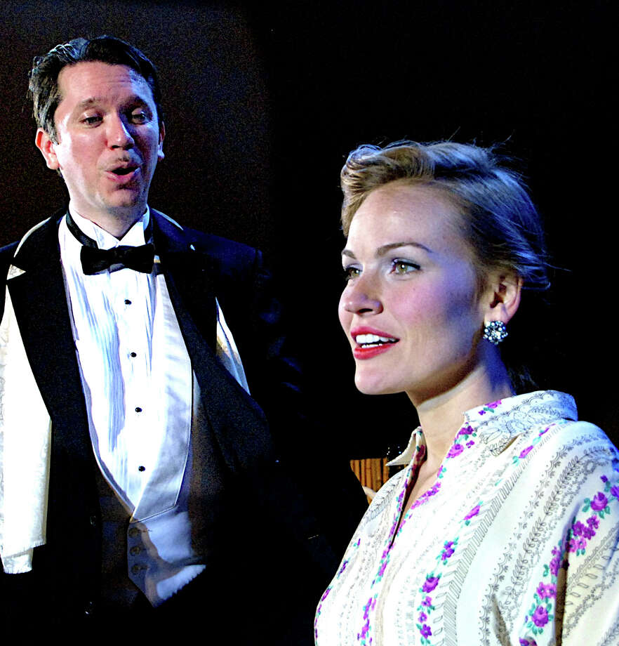 "Daniel Klein and Tiffan Borelli, in a scene from ""South Pacific,"" are among the 20 performers appearing in a benefit for the Summer Theatre of New Canaan Monday, July 28. Photo: Contributed Photo, Contributed / New Canaan News Contributed"
