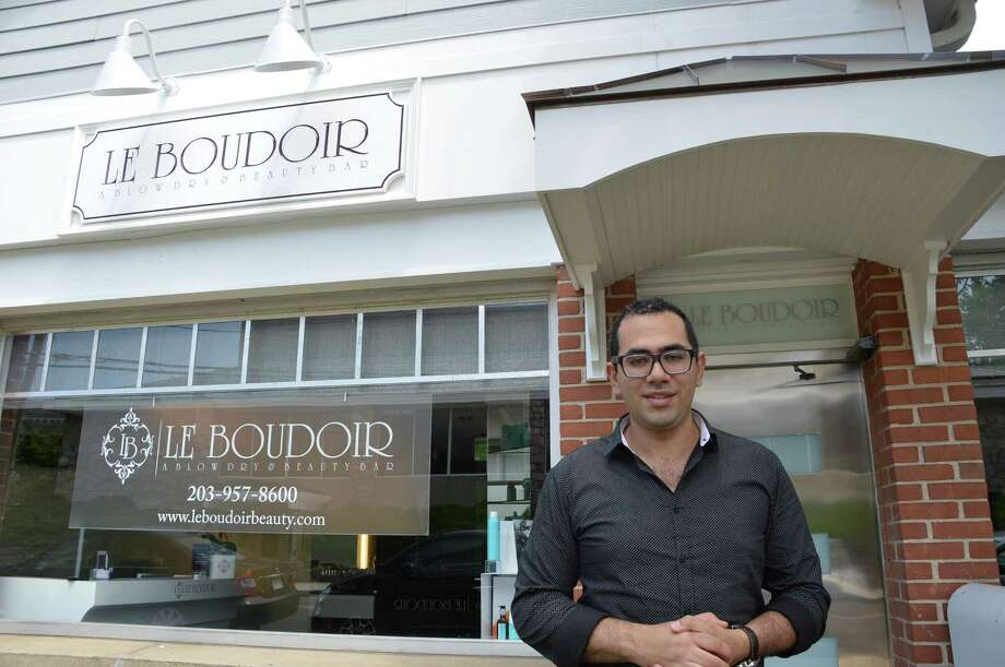 Mamoune Tazi, the owner of Le Boudoir at 160 Main St., New Canaan, is striving to pamper his customers at his newly opened beauty bar. Jarret Liotta/For the New Canaan News Photo: Contributed Photo, Contributed / New Canaan News Contributed