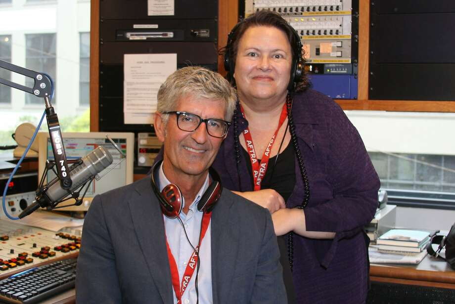 """Stan Bunger and Susan Leigh Taylor — the duo that brings you all of the other news in between the """"traffic and weather together"""" on KCBS radio — are seen here in a 2014 profile about their highly rated morning drive coverage. Photo: Tim Jordan"""