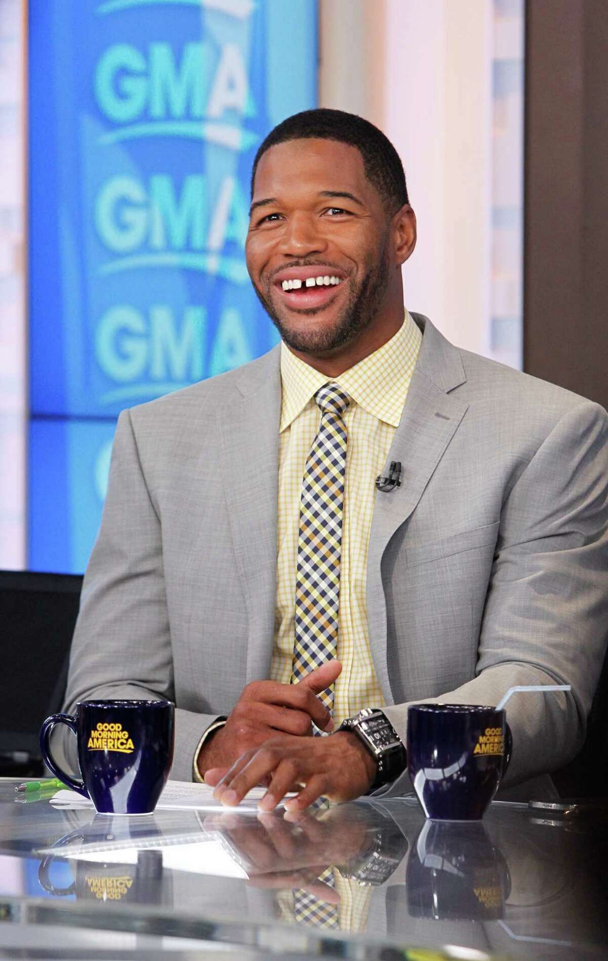 """Michael Strahan, NFL The Westbury and Texas Southern alum went out on top with the Giants, winning the Super Bowl in his final game. He's gone on to TV stardom as a Fox NFL analyst, the co-host of """"Live with Kelly and Michael"""" until his recent high-profile departure and now a full-time role on """"Good Morning America."""""""