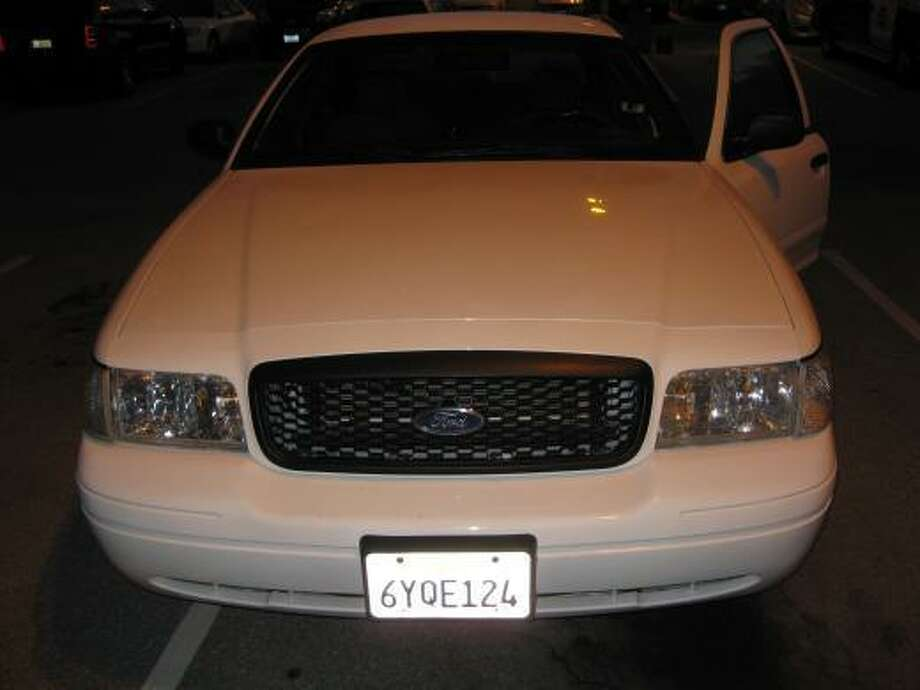 Police say Jeffrey Bugai, 35, drove this car as he impersonated a police officer to sexually assault recent immigrants in San Francisco. San Francisco police believe many of his alleged victims have not come forward because he threatened them with deportation or police retaliation if they reported him. Photo: Courtesy / San Francisco Police / ONLINE_YES