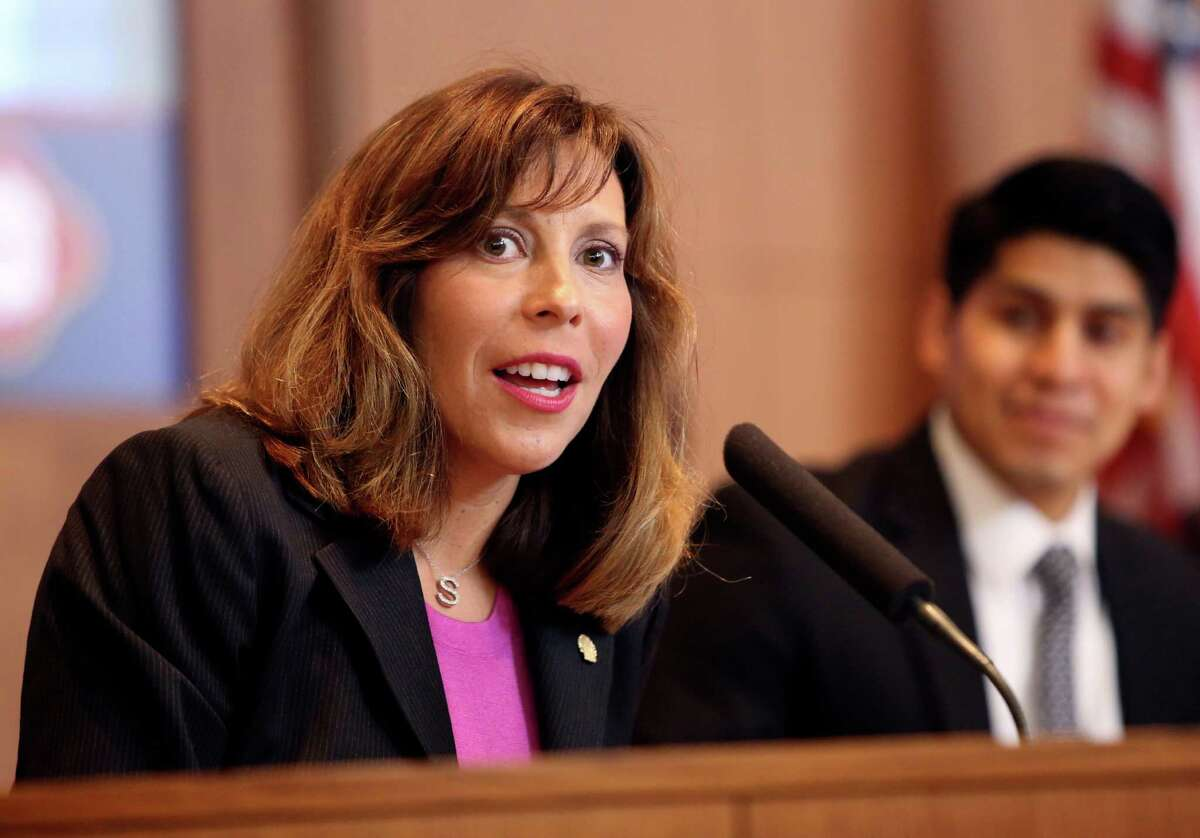 File photo: Council member Shirley Gonzales speaks during the city council meeting on Thursday June 20, 2013.