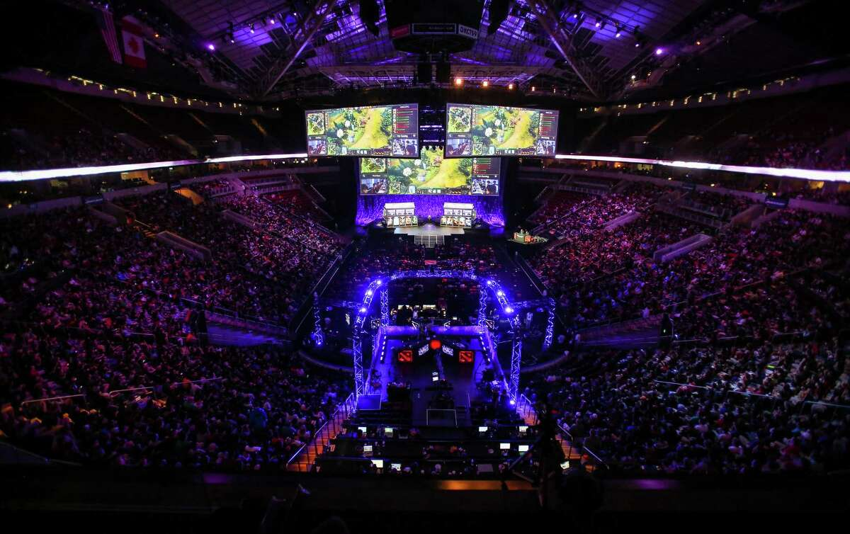 Thousands packed KeyArena to watch The International DOTA 2 Championships on Monday, July 21, 2014. The Chinese team NewBee took home the Aegis of Champions after beating Vici Gaming in three out of four games.
