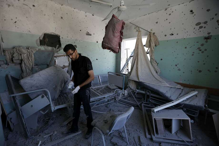 An Israeli army attack left four people dead and wounded dozens at Al Aqsa Martyrs Hospital in central Gaza. Photo: Mohammed Abed, AFP/Getty Images