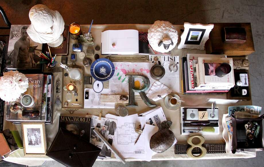 The desk of San Francisco interior designer  Jonathan Rachman. Photo: Jonathan Rachman
