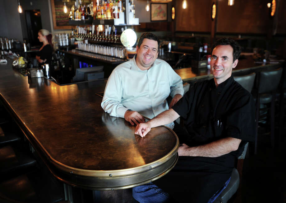 General Manager Kevin Fitsimmons, left, and Executive Chef Dave Brooks at the new Eli's Tavern at 21 Daniel Street in downtown Milford, Conn. on Monday, July 21, 2014. Photo: Brian A. Pounds / Connecticut Post