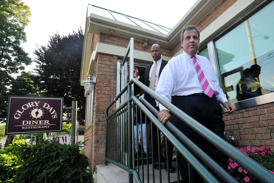 New Jersey Governor Chris Christie leaves the Glory Days Diner in Greenwich, Conn., after stumping for Connecticut Republican gubernatorial candidate Tom Foley on Monday, July 21, 2014. Photo: Jason Rearick / Stamford Advocate