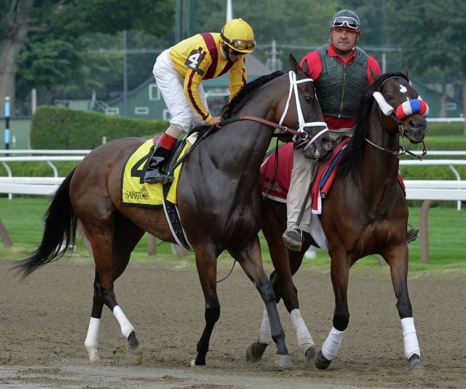 Champion filly at two years old, My Miss Aurelia returned to racing after a long layoff to run third to Better Lucky in the Shine On Stakes Monday afternoon July 21, 2014 at the Saratoga Race Course in Saratoga Springs, N.Y.         (Skip Dickstein / Times Union) Photo: SKIP DICKSTEIN