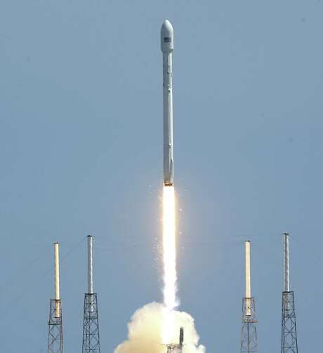 A SpaceX Falcon 9 rocket lifted off at the Cape Canaveral Air Force Station last week. The Air Force is reviewing corrective actions as it weighs certification. Photo: John Raoux / Associated Press / AP
