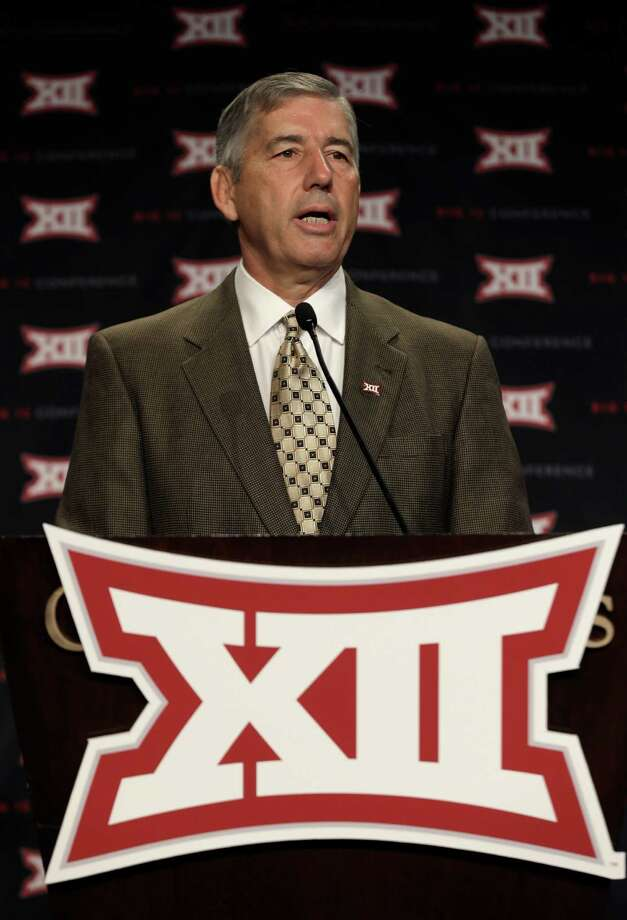 Big 12 Conference Commissioner Bob Bowlsby addresses the media at the beginning of the Big 12 Conference Football Media Days,  Monday, July 22, 2013 in Dallas.  (AP Photo/Tim Sharp) Photo: LM Otero, STF / AP