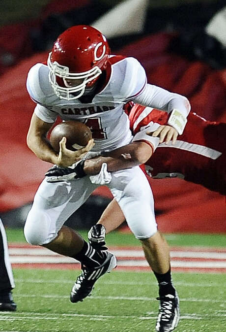 Carthage quarterback Blake Bogenschutz led the Bulldogs to the Class 3A Division I state championship as a senior last season. Photo: Randy Edwards / Beaumont Enterprise