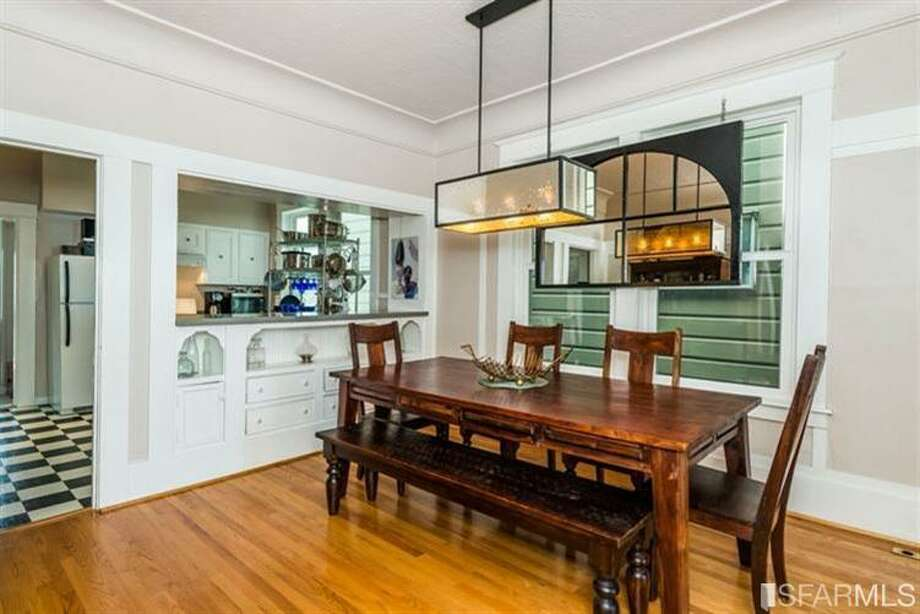 267 Anderson St., Unit A, Bernal Heights: A passthrough to the kitchen from the dining room. Photo: MLS