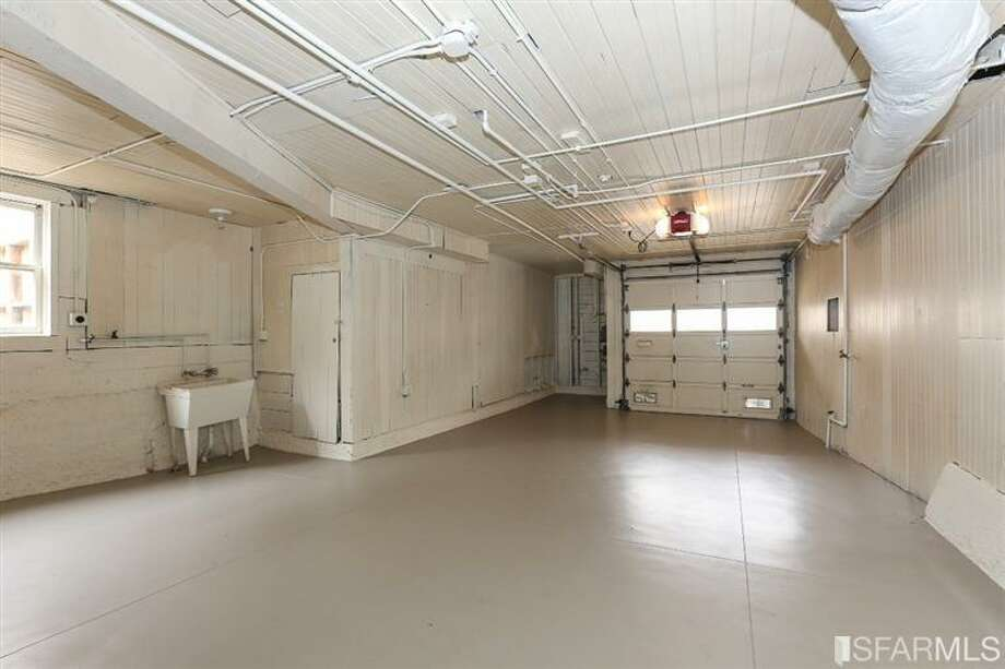 3320 Cabrillo St., Outer Richmond: The garage has room for one car, plus storage. Photo: MLS
