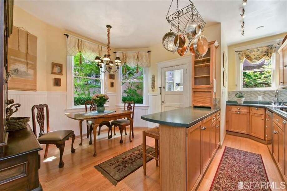 1041 Filbert Street, Russian Hill: There's an eat-in kitchen but no formal dining space. Photo: MLS