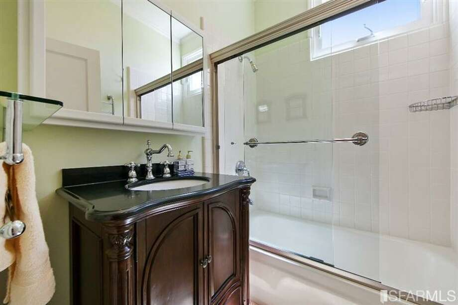 1041 Filbert Street, Russian Hill: The renovated bathroom. Photo: MLS