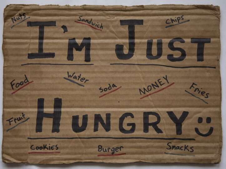 Homeless Cardboard Signs a Cardboard Sign Purchased by