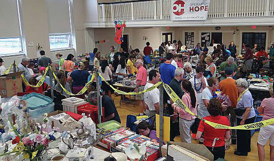 The Operation Hope tag sale, held at First Church Congregational, is a big fundraiser for the Fairfield nonprofit organization dedicated to helping the homeless and disadvantaged. Photo: Staff Photo / Fairfield Citizen