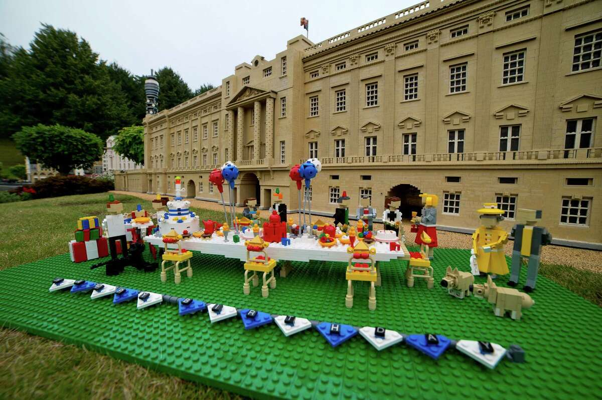Party fit for a king Legoland in Windsor, England, has a special display for Prince George. While he may be too young to appreciate it, his first birthday is a national event.