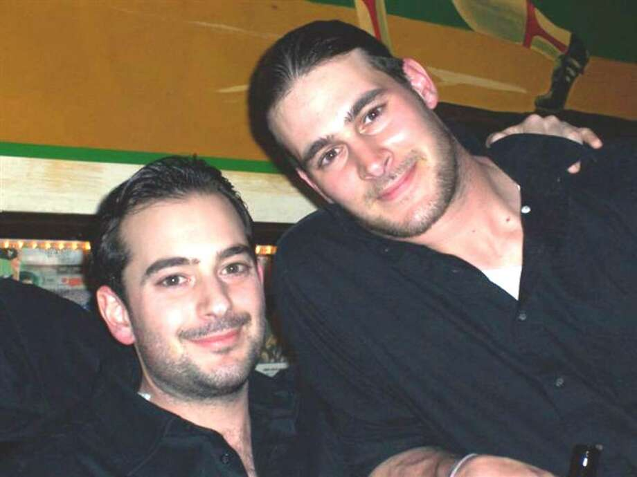 Drew Salvato, at right, with his brother, Jonathon Salvato. Photo: Contributed Photo / Darien News