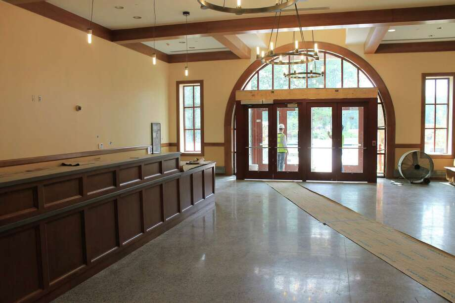 The main lobby of the new Westport Weston Family Y is nearly complete. The 54,000-square foot Y will open Aug. 29 for members. It will be open to the public free of charge over Labor Day weekend --- Aug. 30 to Sept. 1. Westport CT. July 2014. Photo: Westport News/Contributed Photo / Westport News