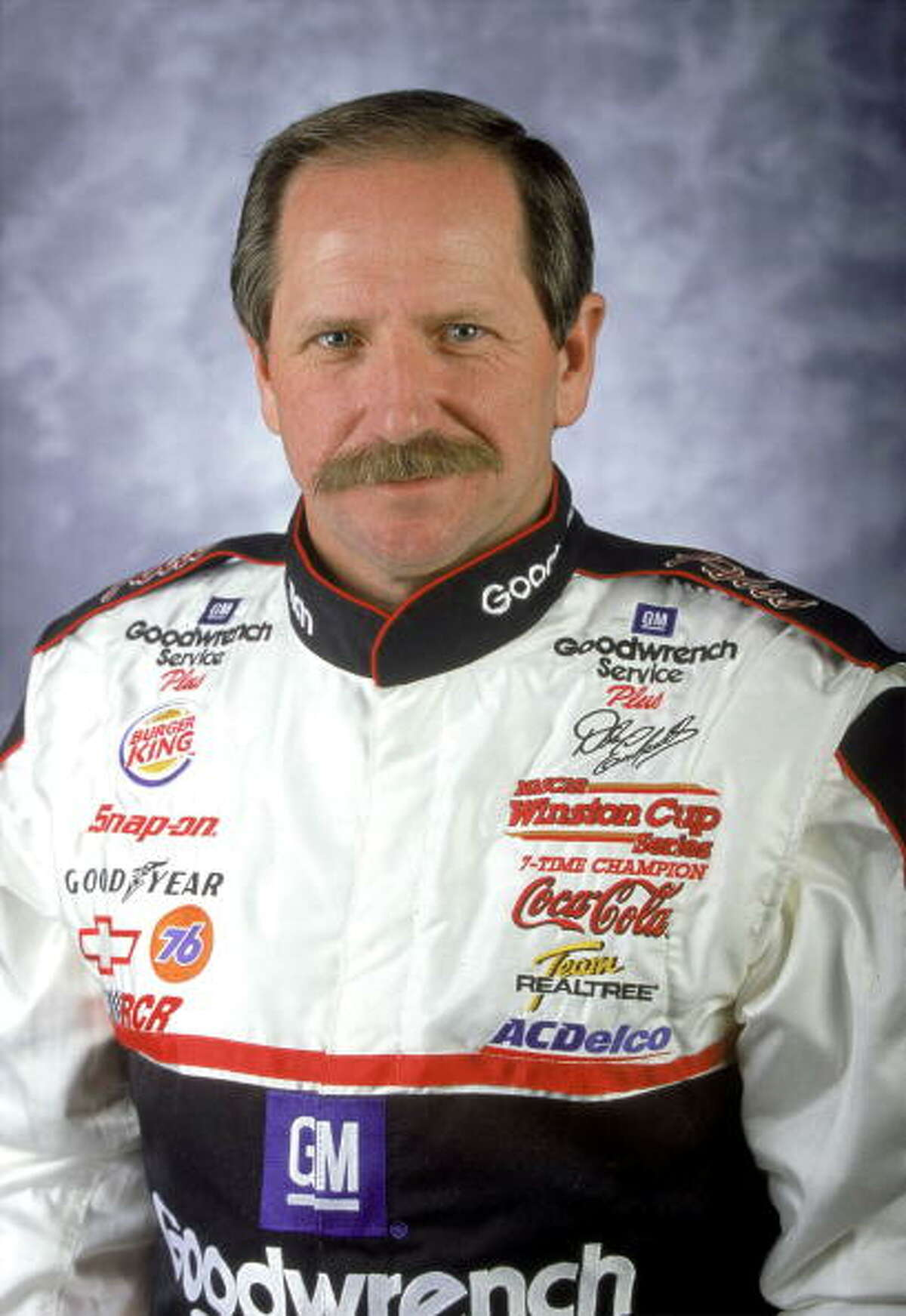 Dale Earnhardt The seven-time champion NASCAR driver raced for the last time in the 2001 Daytona 500 race. Earnhardt crashed into a wall during the final lap of the race which his son Dale Earnhardt, Jr. was also competing in.