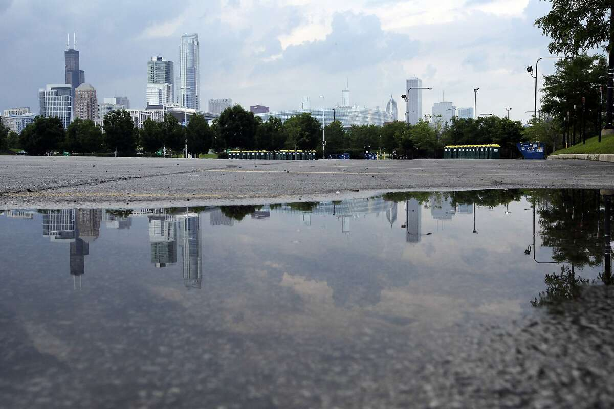The parking lot just south of the Waldron Deck parking lot north of McCormick Place, near Soldier Field, is the proposed site for the George Lucas museum, in Chicago, on Tuesday, June 24, 2014.