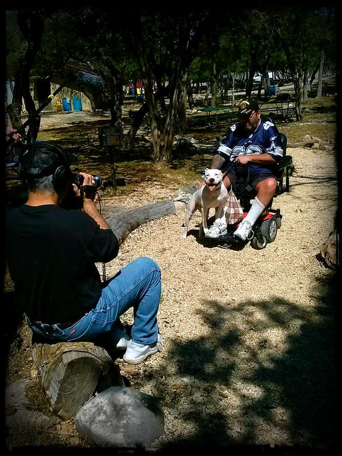 "Filming of the TV show, ""Pluto's K9 Platoon."" Photo: Courtesy Of Heaven Sent Pitbull Rescue"
